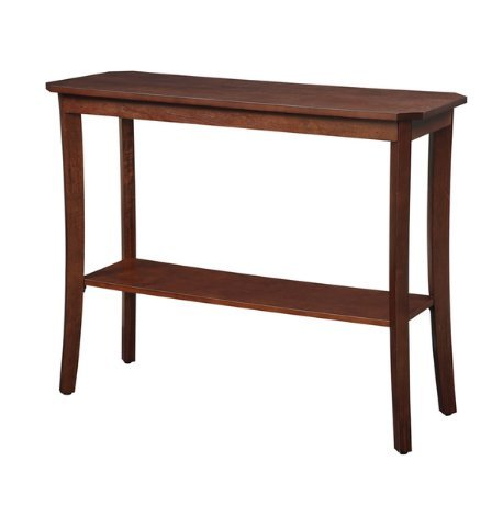 Pottery Barn Console (Modern Wood Accent Entryway Console Table with Bottom Shelf and Curved Legs - Includes Modhaus Living Pen (Mahogany))