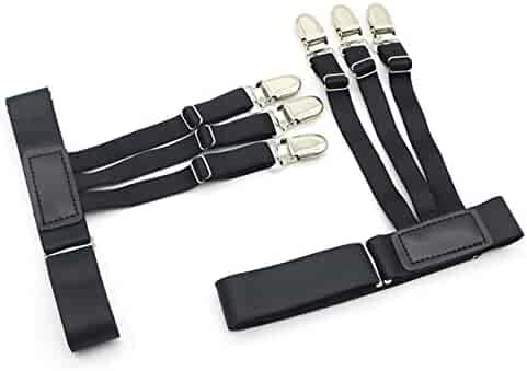6a936b95698 Men Women Shirt Stays Adjustable Elastic Shirt Holder (2-Pack)