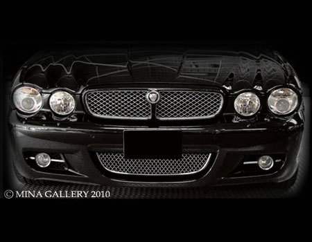 Middle Lower Bumper Mesh Grille for Jaguar X350 XJ8 XJR 2008-2009 -