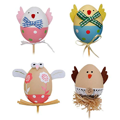 Party DIY Decorations - 5pcs Easter DIY Hand Painted Egg Kindergarten Cute Little Cuttings Plastic Craft Toys - Balloon Runner Mold Pillow Halloween Egg Big Table Chick Happy by dissylove -