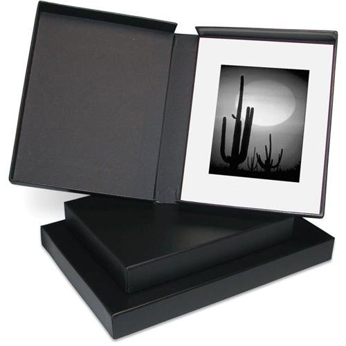 Print File Clamshell Portfolio Box with Black Lining, 17.25x22.25x2'' by Print File