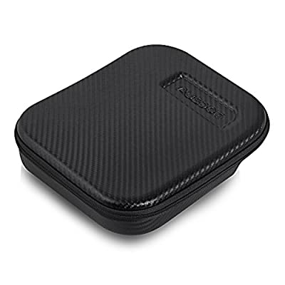 AUSDOM® Headphone Carrying Case EVA Protection Cases Bags for Folding Headset With Earplugs and Mesh Pockets, Zipper and Durable Exterior (Black)