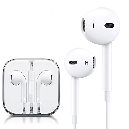 Aapepi Earphones with Microphone [2 Pack] Premium Earbuds Stereo Headphones and Noise Isolating headset Made for Apple iPhone iPod iPad - White