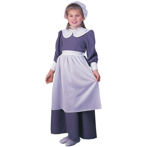 Pilgrim Girl Child Costume - Small -