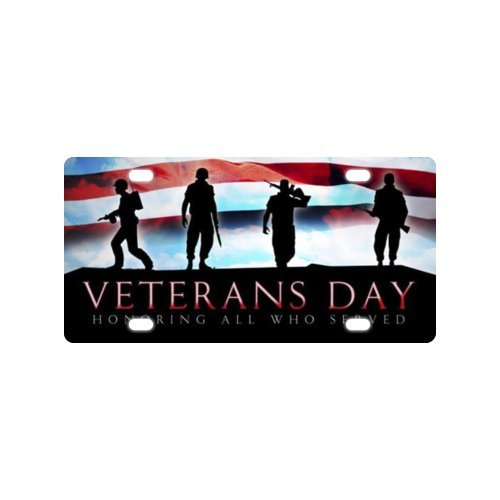 Veterans Day License Plate with Personalized and Novelty -12