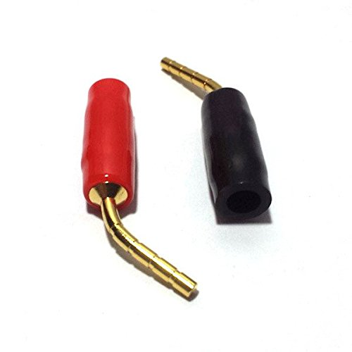 CESS Banana Pin Plug Open Screw Type Cable Connector - Banana Tip Plug (LW) (16 Pack) (Pin Speaker Connectors Wire)