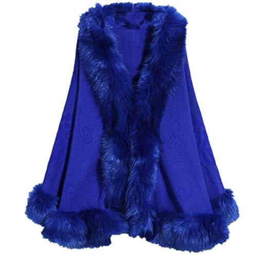 Autunno Alta Manica Ragazza Vita Donna Della Notte Hot Cardigan Per Blau Outwear Invernali Scialle Outerwear Party Moda Baggy Pipistrello Eleganti La Vintage Chic Tendenza AtqBnSRx