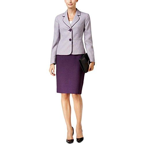 Le-Suit-Womens-Tweed-2-Button-Jacket-Skirt-Suit-2
