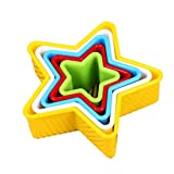 5 Pcs Star Shape Cookie Cutter Plastic Cake Fondant Sugarcraft Biscuits Mousse Mould Multi-size Fruit Vegetable Sandwich Cutter Clay Mold by SamGreatWorld
