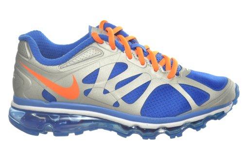 Nike Air Max 2012 (gs) Big Kids Scarpe Da Corsa Argento Metallizzato / Arancio / Blu