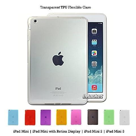 iMacket iPad Mini Clear TPU Case - TotalShield Crystal Clear Soft TPU Gel Case with Shock Absorbtion for Apple iPad Mini - iPad Mini with Retina Display - (Ipad 3 Soft Gel Case)