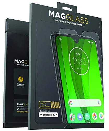 - Magglass Moto G7 Matte Screen Protector (2019) Fingerprint Resistant Anti Glare Tempered Glass Guard (Case Compatible)