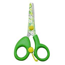 Green Stainless Steel Scissors Office Stationery DIY Kids Craft School 5 Long