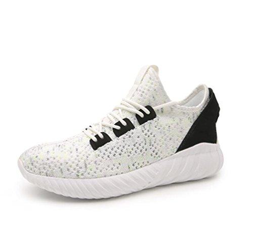Baskets Mode Mixte Adulte Chaussures de Course Running Sport Compétition Trail entraînement Blanc 3x7hrhoI