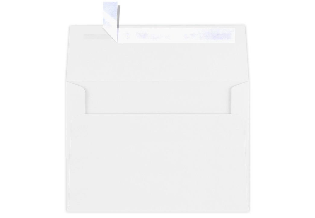 A7 Invitation Envelopes (5 ¼ x 7 ¼) - 80lb Bright White (50 Qty) | Perfect for Invitations, Weddings, Mailings, 5x7 Cards | Peel & Press | 80lb Text Weight | Printable | Square Flap | FE4580-05-50