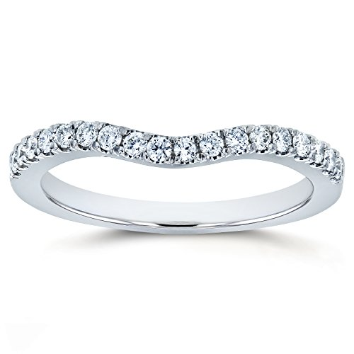 Diamond Wedding Band Curved 1/5 CTW 14k White Gold