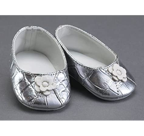 """18/"""" playdolls 3-1//8/"""" L SILVER slip-on flats//shoes for Dolls Baby Face"""