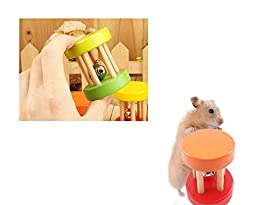 Hamster Gerbil Hammock Climber Parrot Ladder Bird Suspension Bridge Toys Chicks Enlightenment Wooden Toy for Rattles /Biting / Grinding Mouth(Length 9.06 inch, Width 3.74 inch, Height 12.6 inch)