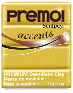 Sculpey Premo Art Clay Accents, Gold
