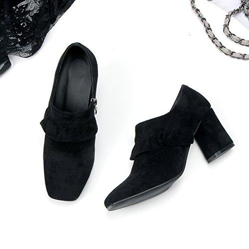 En Cabeza Alto A Gruesos Salvaje Tacón Negro GAOLIM Estudiantes Zapatos Zapatos La De Solteras La Las Mujer Los Con Primavera Zapatos Mujeres De Zapatos Profundos Onatn0gq