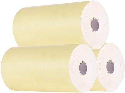 Aibecy Fotopapier Thermopapier 57 30 Mm Rechnungseingang Klarer Druck Papierrolle Für Peripage A6 Pocket Thermodrucker Für Paperang P1 P2 Mini Fotodrucker Gelb Bürobedarf Schreibwaren
