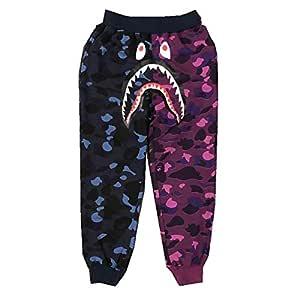 W&TT Hombres Ape Bape Big Mouth Shark Head Casuales Pantalones ...