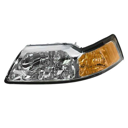 Headlight Headlamp w/Chrome Bezel Driver Side Left LH for 99-04 ()
