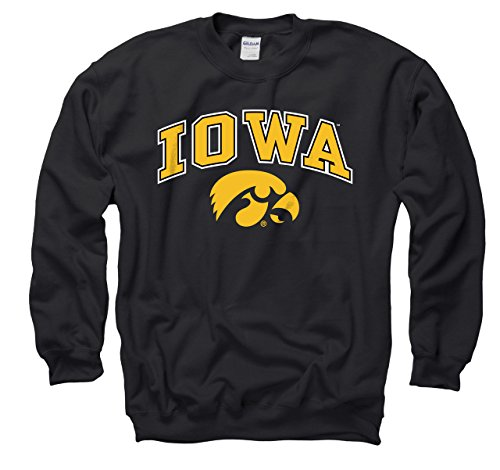 - Iowa Hawkeyes Adult Arch & Logo Gameday Crewneck Sweatshirt - Black