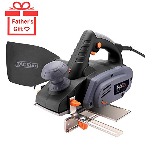 """TACKLIFE 7.5-Amp Electric Hand Planer, 3-1/4-Inch 900W 16,000Rpm Power Planer with 1/8""""(3mm) Adjustable Cut Depth, Dust Bag, Parallel Fence Bracket, Ideal Planer for DIY - RES002"""