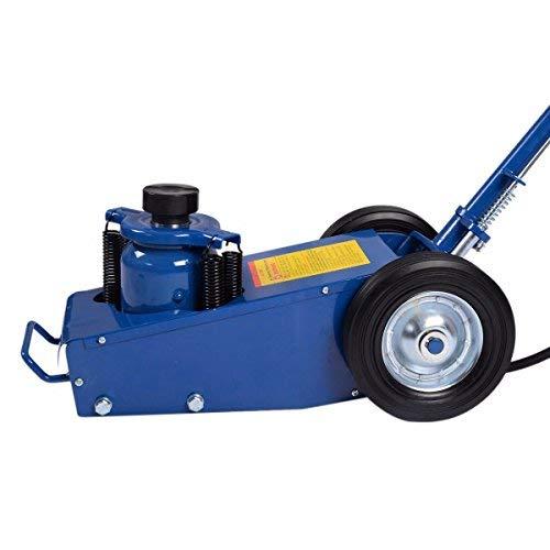 Goplus 22 Ton Air Hydraulic Floor Jack Truck Lift Jacks Service Repair Lifting Tool with Wheels by Goplus (Image #7)