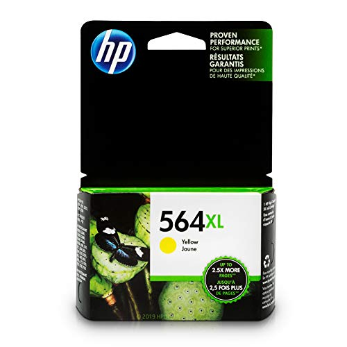 HP 564XL Ink Cartridge Yellow (CB325WN) for HP Deskjet 3520 3521 3522 3526 HP Officejet 4610 4620 4622 HP Photosmart: 5510 5512 5514 5515 5520 5525 6510 6512 6515 6520 6525 7510 7515 7520 7525 B8550