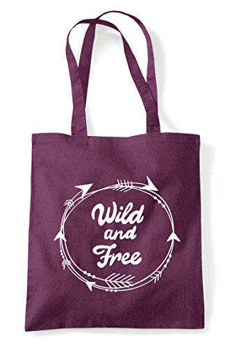 Plum Shopper Circle Bag Wild And Tote Arrow Statement Free tw0HP