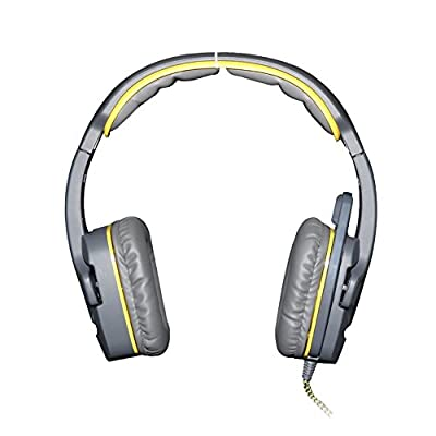 GW SADES SA708 3.5mm Surround Sound Stereo PC Gaming Headset Headband Headphones with Microphone Over-the-Ear Volume control(Yellow)