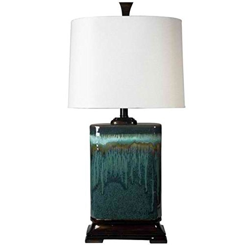Table Lamp / Desk Lamp, Traditional/Transitional Carolina Ceramic Table Lamp L31424 in Blue, 15''L x 9''W x 31.5'' H by Unknown