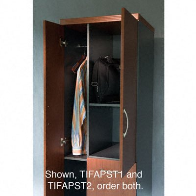 Tiffany Industries APST1LDC 24 by 24 by 68-3/4-Inch Aberdeen Personal Storage Tower with 2 Shelves, Chocolate