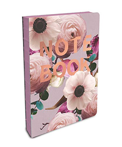 Studio Oh! Hardcover Compact Coptic-Bound Journal Available in 5 Designs, Floral Expressions Blush NOTEBOOK