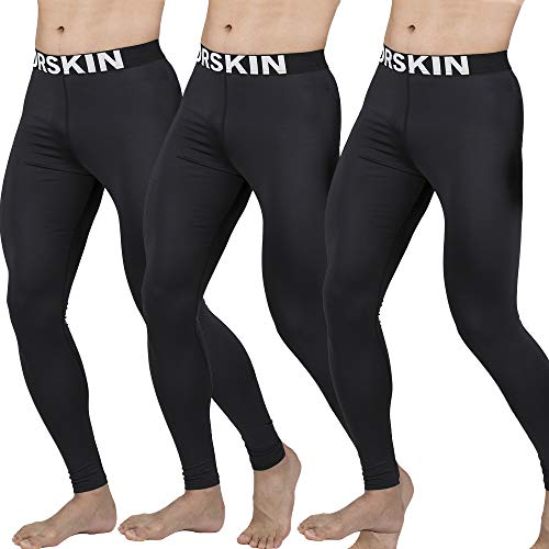 Classic Football Shorts (DRSKIN Men's Compression Dry Cool Sports Tights Pants Baselayer Running Leggings Yoga 3 Pack (Classic B01 3P, 2XL))