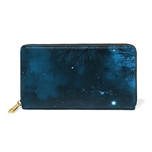 Sky Around Zip Starry Clutch Organizer Wallet And Colorful Nebula Night Handbags TIZORAX Womens On Bright Purses aqYfww6F