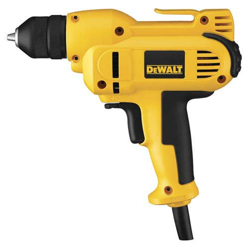 Factory-Reconditioned DEWALT DWD115KR 3/8-Inch VSR Mid -Handle Grip Drill Kit with Keyless All-Metal Chuck 8.0 Amp