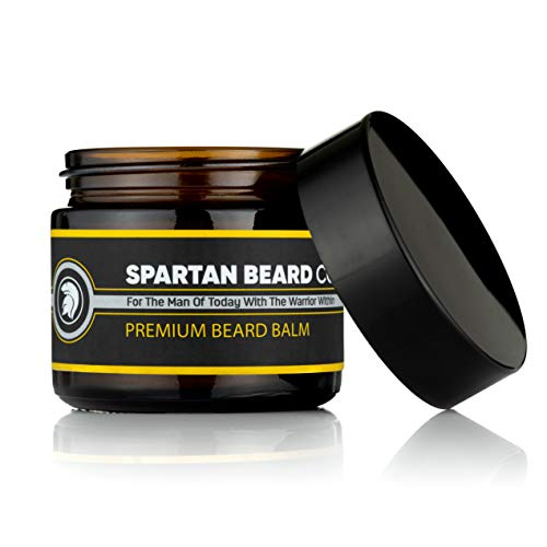 Spartan Beard Co Beard Balm | 7 Premium Oils & Butters Crafted For Beard Face And Skin Health | Reduce Frizz | Leave In Conditioner | Beard Styling Wax | Promotes Beard Growth, Health And Shine
