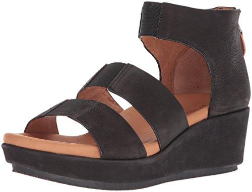 Triple Strap - Gentle Souls by Kenneth Cole Women's Milena Triple Stretch Strap Platform Sandal Sandal, black, 9.5 M US