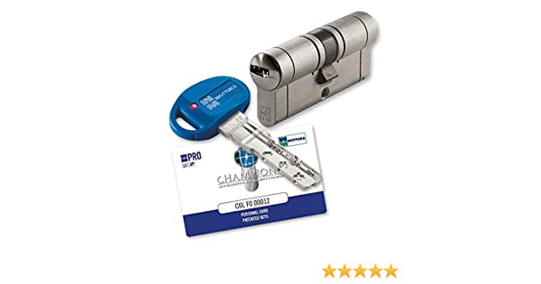 Champions Pro.Nuevo cilindro de seguridad Champions anti-bumping, anti-picking y anti-tracing.: Amazon.es: Bricolaje y herramientas