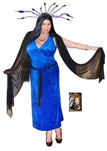 Sanctuarie Designs Women's Medusa / Deluxe/ Plus Size Supersize Halloween Kit/9xT/Blue/