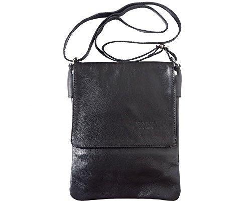 LaGaksta Ashley II Italian Soft Leather Shoulder Crossbody Bag -Black,Small