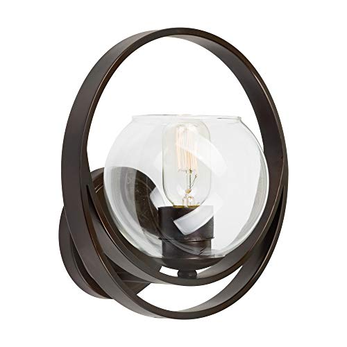 Indoor Wall Sconce Forte Lighting - Forte Lighting 2649-01-32 Signature 1 Light 10 inch Antique Bronze Wall Sconce Wall Light