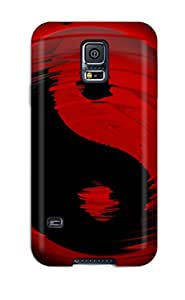 Hot Black And Red First Grade Tpu Phone Case For Galaxy S5 Case Cover
