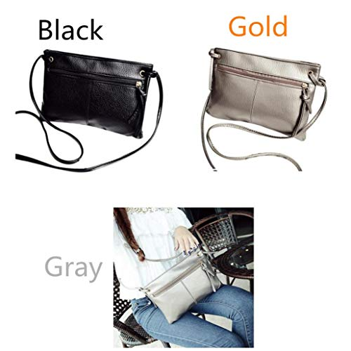 Fashion Large Ladies Women Kanpola Gray Shoulder Handbag Black Tote Bag Purse Swx6dq7dA