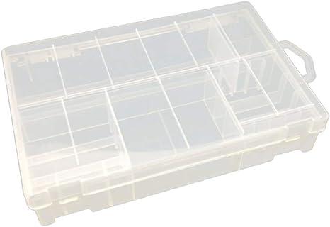 Gazechimp 20xAA + 8xAAA Batería Caja De Almacenamiento Transparente Soporte Baterías Recargables Viaje: Amazon.es: Electrónica