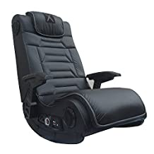 Michael Anthony Furniture X-Rocker Pro Series H3 Wireless W/Rails, Gunstock Arms Black W/Grey Vibration 4.1 Speakers