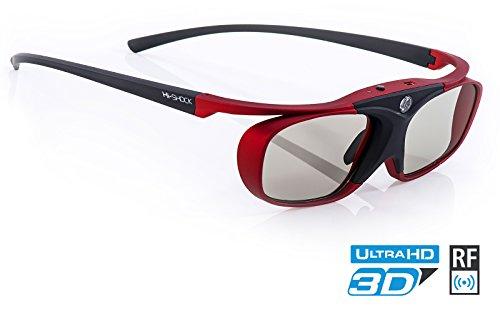 "Hi-SHOCK RF Pro ""Scarlet Heaven"" | 3D glasses for FullHD / HDR /4k SONY & JVC 3D Projector | VPL-HW65ES, 45ES, VW365, VW350, VW500, TDG-BT500A, X105-RF-X1 | JVC RS 400 etc | PK-AG3, PK-EM2"
